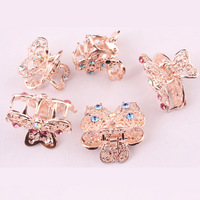 Size 25x15mm 12 pieces/lot fashion crystal butterfly hair claw rhinestone small hair clip for women jewelry accessories