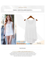 Hot Sell Free Shipping 2014 New Summer  Wild Candy-colored Chiffon Shirt Dress Style Stitching Fake Two Camisole