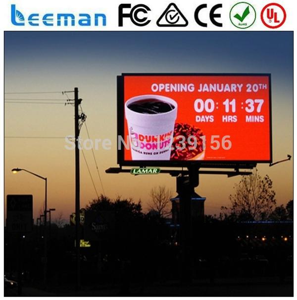 P25 P14 Outdoor led full color display billboard, outdoor led billboard tv 16x96 Pixels P20 RGB full color Outdoor led display(China (Mainland))