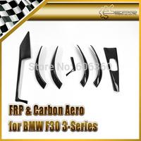 For BMW F30 F35 3 Series Real Carbon Fiber Interior Trim Cover Set 7PCS LHD