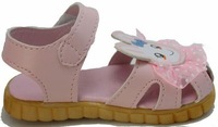 Free Shipping 2014 child princess leather toe cap covering sandals