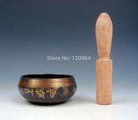 "Tibetan Brass Crafted Gold Gilt Chakra Singing Bowl Meditation Gongs  3.5"" - Nepal Antique Copper Bronze Bowls"