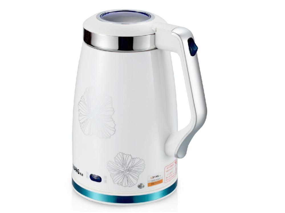 Aparência utensílios de cozinha em aço inoxidável moda dupla chaleira elétrica com isolamento anti -queimadura preservação do calor automática(China (Mainland))