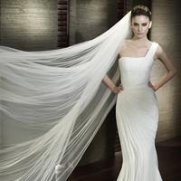 3 Meters Long Wedding Veil Soft Bridal Head Veils Two-layer Veil Ivory / White Color Elegant Wedding Accessories