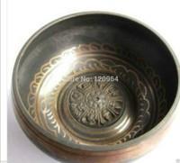 diameter 8Inch Excellent Beautiful Tibetan Buddhist Singing Strike Bowl Antique Copper Bronze Bowls