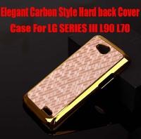1pc Newest Arrival Elegant Carbon fiber Style Hard back Cover Case For LG SERIES III L90 L70 HK Post Free NO: L901