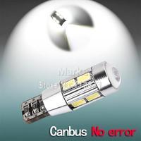 10pcs led t10 canbus,10 led SIGNAL BULB t10 SMD5630 LENS FREE ERROR ,Auto Indicator T10,168 194/501 W5W LED BULB,CANBUS W5W LED