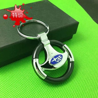 Subaru Key Ring key chain for Forester  Legacy XV Outback with blue logo 1pc/set