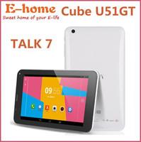 Hot Cube U51GT talk 7x quad core Tablet PC 7 inch Phone Call MTK8382 1.3GHz 1GB RAM 8GB WCDMA GPS Bluetooth FM
