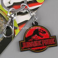 Retail 1pcs Free Shipping Movie Jurassic Park The Dinosaur Metal Key Chains Fashion Keychain for Men Women ANPD1424
