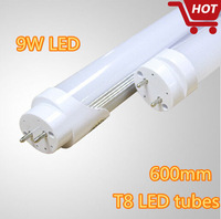 Free shipping 2ft T8 60cm LED tubes 9W 900LM