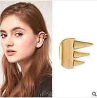 Hot Cool Rock Punk Gothic Rivet Open No Ear Hole Ear Clip Earring High Quality women men clip earrings gold clip earrings