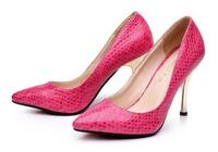 Free shipping 2014 women Thin heels pump big size 35-43 High Heel summer shoes for female JF981