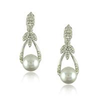 2014 Fashion Pearl Earring Accessories Drop Earrings Rhinestone Pearl Earrings