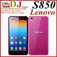 Original 5 inch Lenovo S850 phone MTK6582 Quad Core Android 4.4 IPS Screen 1G RAM 16GB Rom 13.0MP NFC GPS WCDMA in stock