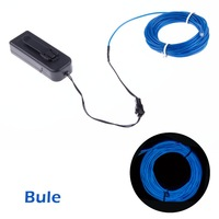 Bloomwin Blue EL Wire 5M/16Ft  Waterproof  Portable PVC EL Tape  Energy-efficient Perfect for  Indoor or Outdoor  Decoration