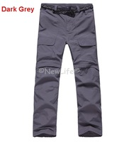 Men's Quick-drying Outdoor Pants Removable Sunscreen Waterproof Perspiration Pats Outdoor Leisure 1pc