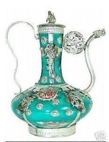 famous Excellent Chinese Tibet porcelain carved Collection teapot Antique crafts Copper Bronze