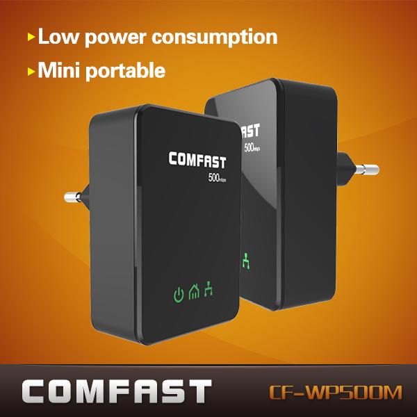 Neuankömmling 500 Mbps plc HomePlug mini Powerline-Adapter comfast cf-wp500m +free versand 2pcs/bag
