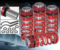 1998-2002 A*CORD PRELUDE RED ADJUSTABLE JDM VIP COILOVER SLEEVE LOWERING SPRING