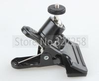 "Metal Clip Clamp Grip 1/4"" inch Adapter Screw for Camera Tripod Flash Holder Bracket"