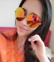 F66 sunglasses oculos de sol mens 2014 circular retro silver vintage sunglasses polygon metal glasses glasses