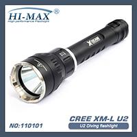 Free shipping HI-MAX 200Meters 1pcs Cree xm-l U2 LED Dive Torch Light scuba led diving flashlight