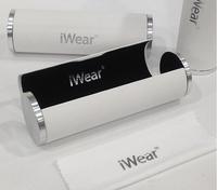 Smooth Style White Portable Fashion Vintage Cylinder Glasses Case for eyeglasses optical frame  Eyewear Accessories