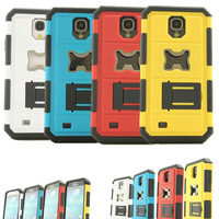 Shockproof Hybrid Beer Bottle Opener Hard Back Shell Case PC+Silicone w/ Kickstand for Samsung Galaxy S4 IV i9500