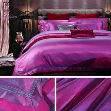 Big sale.100% tencel jacquard bedding set 4 pcsa duvet cover,a bed sheet,two pillow cases bed set 4 pcs.ZMN025.(China (Mainland))