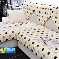 Fashion flannel slip-resistant leather sofa mat cloth 100% cotton cushion sofa set cover