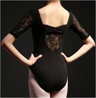 Adult Ballet Lycra Leotard Unitard Women Butterfly  back Five lace sleeve performance clothing