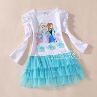 new Children  Girls  cartoon  summer  Dress  5pcs/ lot free shipping