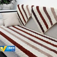 Multi size Striped 100% plush cotton cushion sofa set cover towel cover Flannel slip color brief sofa towel set