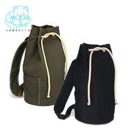 2014 drawstring canvas bucket girls backpack male brief women's fashion travel bag A4050