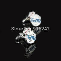 Directly Factory High Quality Enamel Button Sport Football Madrid Cufflinks Cuff Links