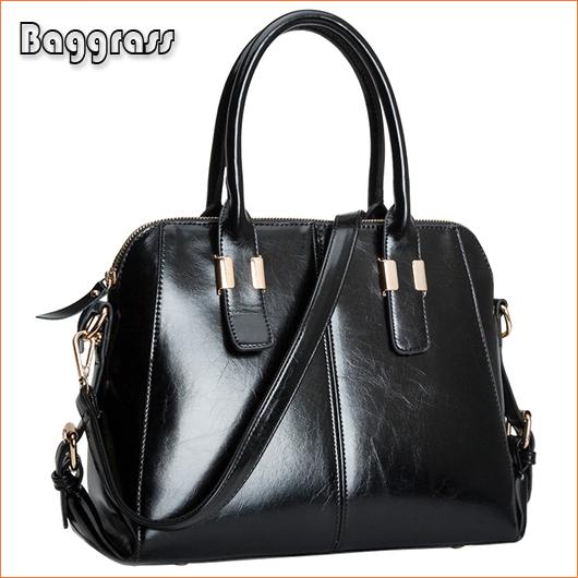 Famous Brands Handbags 2014 Hot Women Genuine Leather Bags Women Handbag Fashion Totes Vintage Bag Shoulder Bags Portable Bag(China (Mainland))