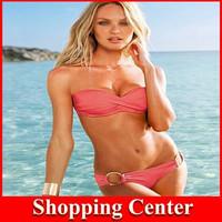 Freeshipping 2014 vintage bikini swimsuit brand vs swimsuit top and bottom Victoria bikinis women bathing suit brazilian