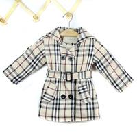 hot Retail New 2014 winter childrens coat children clothing gril jackets Plaid coat children Brand girl clothing #1007
