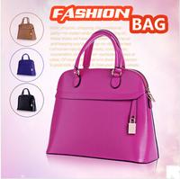 2014 New Fashion Brand Women's Genuine Leather Shell Handbag Fashion Cowhide Messenger Bag Lockbutton Shoulder Bag For Female