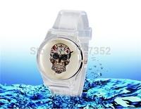 2014 new watch Wristwatches Skull Print  fashion watch women dress watches quartz watch + free shipping