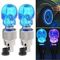 20 pcs skull valve cap LED Light wheel tyre lamp for car vehicle motorbike motorcycle bike