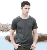 Fashion Sports T shirts quick-drying sweat absorbing t-shirt male Women casual o-neck solid color short-sleeve free shipping
