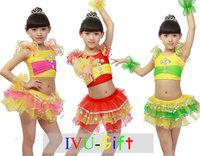 2014 New  Children dance wear Latin dance costume girls dance clothes  Children Modern Dance Performing service IVU
