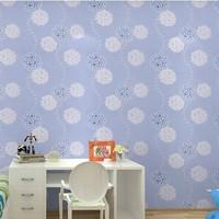 Wall Sticker Papel de parede roll floral infantil vintage desktop wallpaper rolls child blue pvc circle wall papers home decor