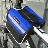 Giant Bicycle Bike Cycling blue Front Tube Bag 2 in 1 Black Flap Bag