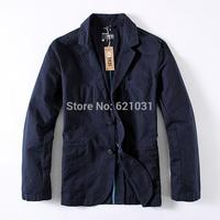2014 new Men's Casual Slim Stylish fit Two Buttons Suit Blazer Coat Jackets male 100% cotton men blazer Men suit FREE SHIPPING
