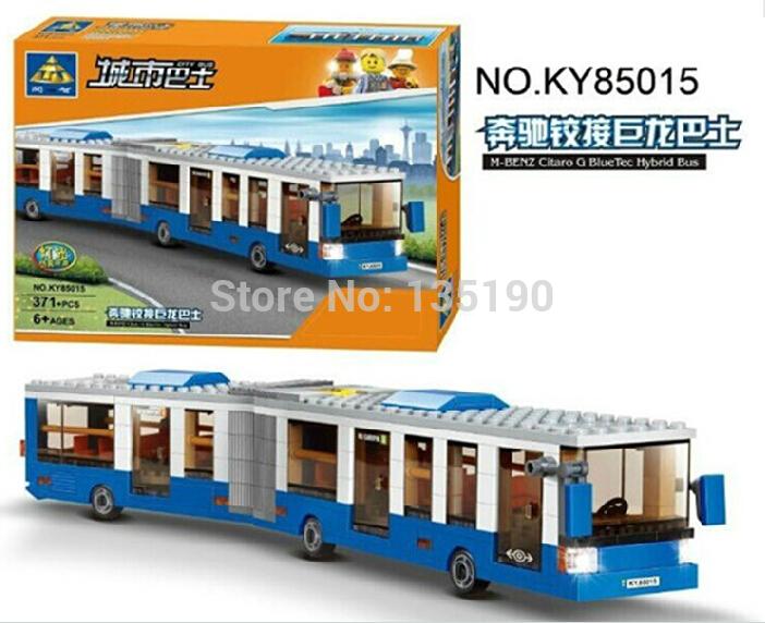Grátis frete nova KAZI 85015 371 pcs construção tijolos blocos define série cidade ônibus de luxo Tour iluminai crianças Eductional brinquedos(China (Mainland))
