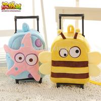 Pull rod bags cartoon cute children  Men's and women's backpack