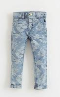 Beautiful Fashion personality children jeans baby Jacquard denim trousers Rose Flocking flower